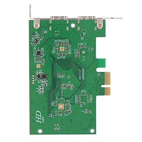 FOLOSAFENAR Tarjeta de Captura de Video HD, Tarjeta de Captura de Video HD en Vivo Tarjeta de Captura de Video Interfaz PCI-E para educación a Distancia Videoconferencia Vigilancia y Video en Vivo