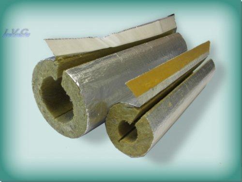 Steinwolle Rohrisolierung alukaschiert 48 x 20 mm 50/% ENEV
