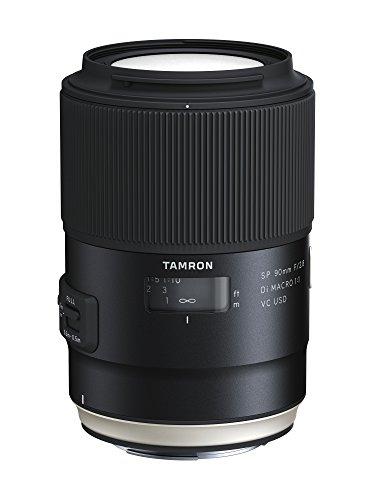 Tamron SP AF 90mm F/2.8 Di VC USD Macro 1:1 - Objetivo para cámaras réflex Canon (estabilizador Imagen VC, Cristal XDL, Sistema IF), Negro