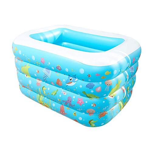 Piscina Inflable, Modelo océano/Inflable Bañera bebé de Juguete de Piscina Family Fun Salón Baño Cubierta Inflable Piscina Family Water Park (Color: A, tamaño: 120 * 100 * 70cm) kairui DDLS