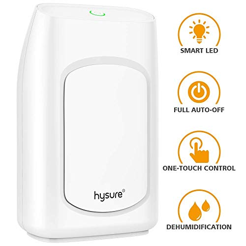 Review Hysure Dehumidifier,700ml Compact Deshumidificador 1200 Cubic Feet(216 sq ft) Quiet Room Dehu...