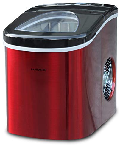 Frigidaire EFIC117-SSRED-COM Stainless Steel Ice Maker, RED