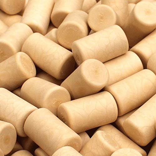 Tapones sintéticos blancoamarillentos para vino, 100 unidades, listos para usar