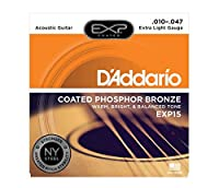 D'Addario EXP15 Coated Phosphor Bronze Extra Light×5SET アコースティックギター弦
