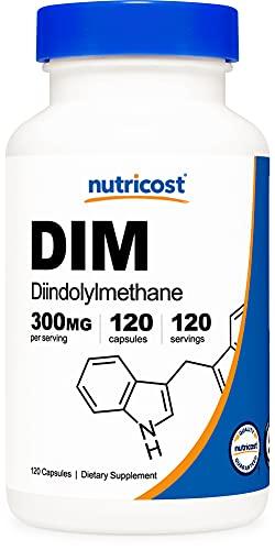 Nutricost DIM (Diindolylmethane) Plus BioPerine 300mg, 120 Vegetarian...