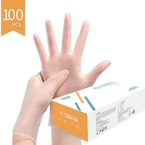 Einweg-Sterile, Puderfreie, Latexfreie Handschuhe Zum Persönlichen Schutz, Vollständig Versiegelt, Verbesserte Version (100 Stück) L