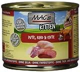 MAC's Katzenfutter getreidefrei Kitten Pute, Rind, Ente, 6er Pack (6 x 200 g)