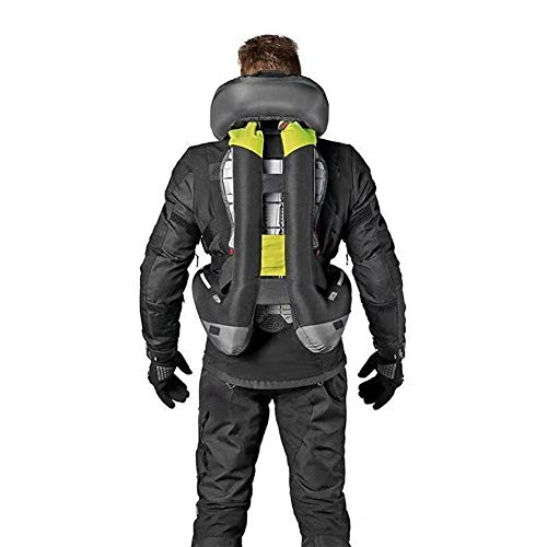 OZQP Airbag Vest Motorcycle Outdoor Cycling Inflatable Vest Protective Safety Vest Knight Reflective Vests Sports Chest Vest Male and Female Life Jackets,A,XL