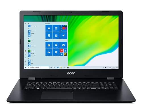 "Acer Aspire 3 Slim 17.3"" HD+ Laptop , 10th Gen Intel Core i5-1035G1 (Beats i7-7500U) Up to 3.6GHz, Intel UHD Graphics, Wi-Fi, DVD-Writer, HDMI, Windows 10, WOOV 32GB Micro SD Card (8G+1T HDD)"