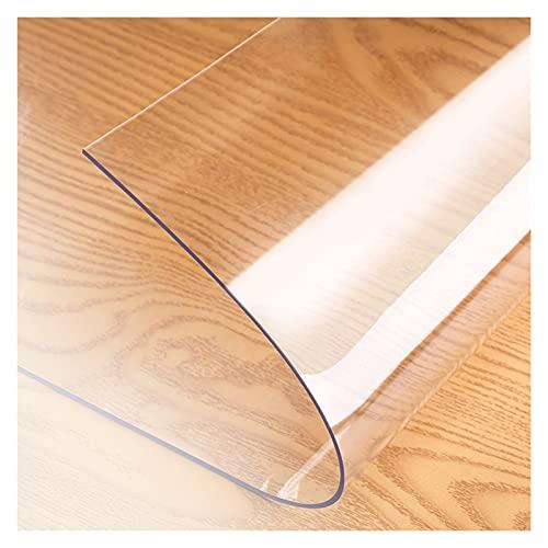 ALGXYQ Protector Alfombra Transparente Alfombrillas PVC Antideslizantes Resistencia Rayado para Estera de Sillas Escritorio Oficina Casa, Personalizable (Color : 2.1mm, Size : 1.4x1.4m)