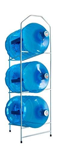 Desconocido Botellero para 3 botellones o garrafas de Agua de 20 litros u 11 litros -Blanco