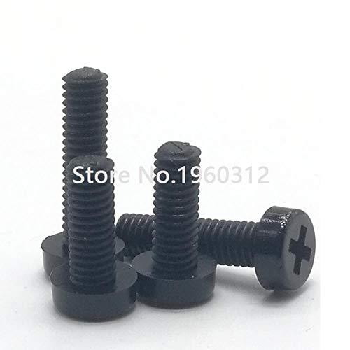 50 stks M2 m2.5 m3 m4 DIN7985 ISO7045 wit of zwart nylon schroef of transparant plastic kruis verzonken ronde kop schroeven, zwart nylon, M2.5