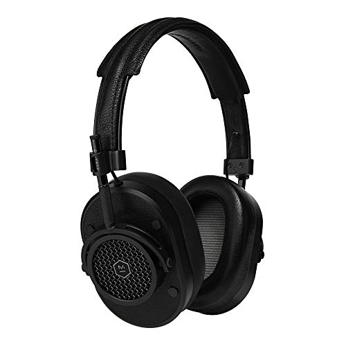 Master & Dynamic MH40 Over-Ear Headphones with Wire - Noise Isolating with Mic Recording Studio Headphones with Superior Sound Black Metal/Black Leather