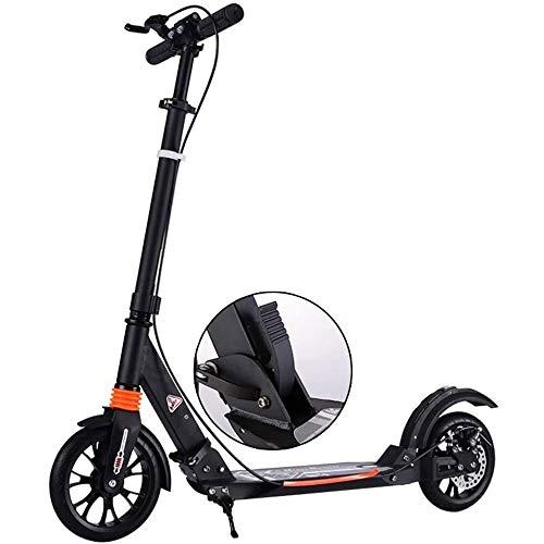 HUIXINLIANG Scooters Adultos, Plegables con 2 Ruedas |Altura Ajustable, Carga máxima de 220 Libras, Scooter de Patada, Amortiguador, Scooter de la Rueda Grande