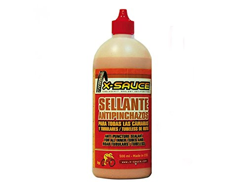 X-Sauce Sellante antipinchazos para Todas Las cámaras y tubulares/tubeless de Ruta 500ml