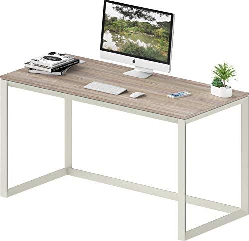 SHW Triangle-Leg Home Office Computer Desk, Oak