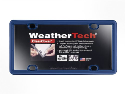 WeatherTech (8ALPCC7) ClearCover License Plate Frame, Navy Blue