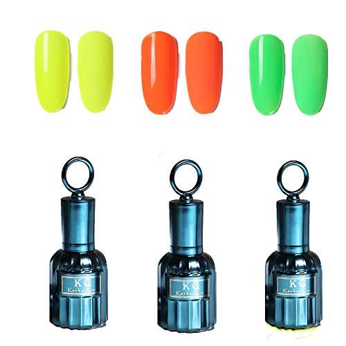 Das neue fluoreszierende Barbie-Nagellack-Frühlings- und Sommer-Gel-Nagellack-Set für absorbierbares Gel-Nagellack-Set erfordert eine UV-LED-Nagellampe für den DIY-Nagelstudio zu Hause (3 Stück)