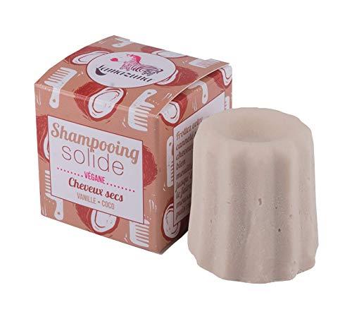 Lamazuna Solides Shampoo Vanille und Kokosnuss für trockene Haare, 55 g