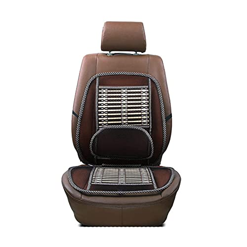 Ergonomic Bamboo Car Seat Pad, Mesh Lumbar Support Chair Back Support with Elastic Strap Back Rest for Office Chair/Car Seat/Back Pain Relief