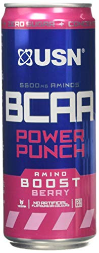 USN BCAA Power Punch Can- Case of 12 - Sour Apple, 345 g