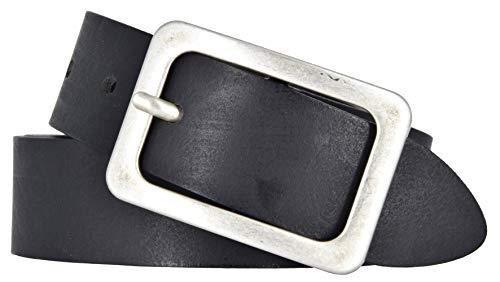 Vanzetti Damen Leder Gürtel Belt Ledergürtel Damengürtel schwarz 35 mm (110 cm)