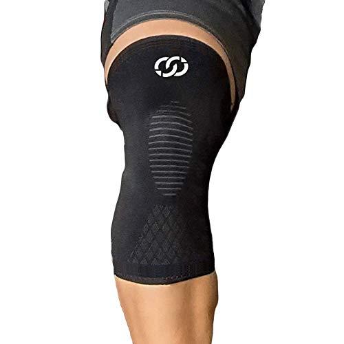 ✅ DÀ SOLLIEVO DAL DOLORE - Le fasce a compressione migliorano la circolazione nel ginocchio, aiutano a guarire da lesioni ai legamenti e dolori muscolari. La pressione previene gli infortuni. ✅ TECNOLOGIA ANTISCIVOLO, NON SI SPOSTA - Le strisce di si...