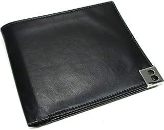 【中古】バリー 二つ折り札入れ財布 レザー ブラック