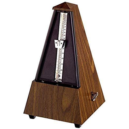 Wittner Taktell Pyramidenform Metronom Kunststoffgehäuse ohne Glocke Nußbaum-Maserung