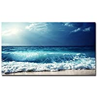 EZRYBHD アートパネル HDモダンスタイル海景キャンバス絵画アート壁の写真リビングルームの装飾カスタムポスターとプリント15.7x19.7in(40x50cm)x1pcsフレームなし