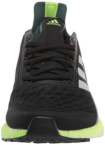 adidas - Zapatillas de correr Ultraboost Personal Best para hombre, (Negro/Plateado/Verde señal), 44 EU