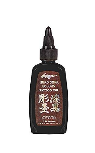 Kuro Sumi Tattoo Ink, Double Sumi Tribal Black, 1/2 Ounce