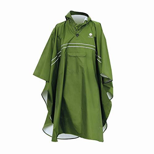 Saewelo Regenponcho, 100% waterdicht, ademend, lang, licht, opvouwbaar, 3 zakken en reflectoren, premium regencape voor dames en heren, regenbescherming, poncho-uitrusting voor wandelen en festival