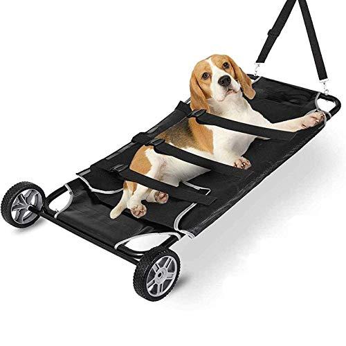 NXL Camilla Plegable para Mascotas, Gatito, Cachorro, Camilla De Rescate, Carrito De Rescate para Mascotas, Carrito con 2 Ruedas para Perro