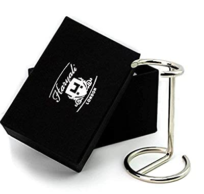 Shaving Brush Stand Holder Made of Stainless Steel with Chrome Finish Comes with Our Designer Box