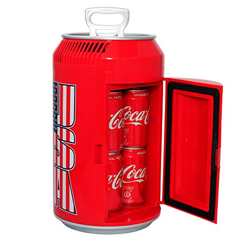 Guay Outdoor Portable Mini Fridge US Can Beverage Cooler – 8 Cans / 5 Liters - AC/DC Indoor and Outdoor Vehicle Thermoelectric Can-Shaped Refrigerator