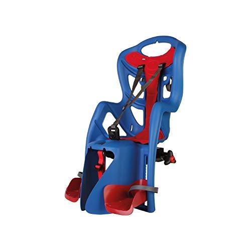 Pepe - Asiento Posterior de Bicicleta - para niños de hasta 22 kg, de 3 a 8 años - Se Fija al Portaequipaje - Azul eléctrico y Rojo