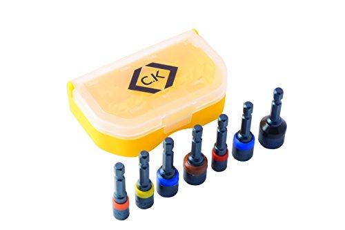 C.K T4514 Magnet-Steckschlüsselsatz, 7-teilig
