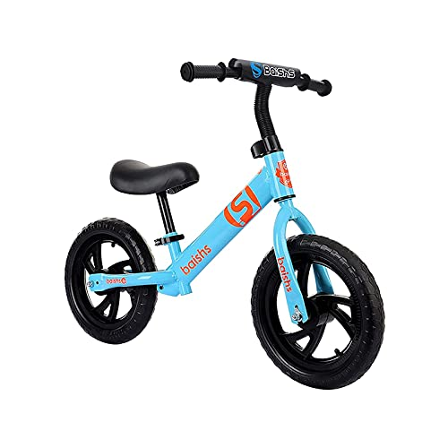 ELXSZJ XTZJ Bicicleta de Equilibrio 12'Bicicleta de Entrenamiento para niños pequeños Durante 18 Meses 2 3 4 niños niños niños Contraste liviano Color No Pedal Bicicleta con Asiento Ajustable