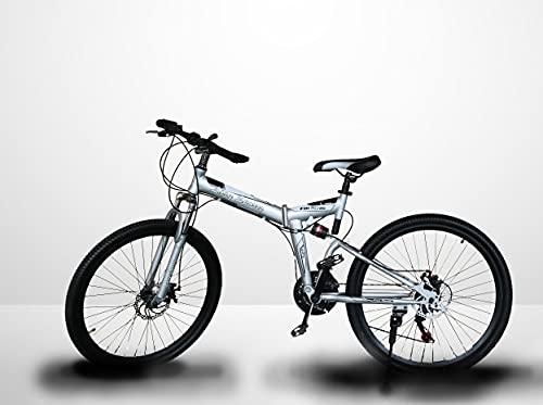 LAZY SPORTS Bicicleta Montaña Plegable con Aluminio Reforzado Ligero (Plata)