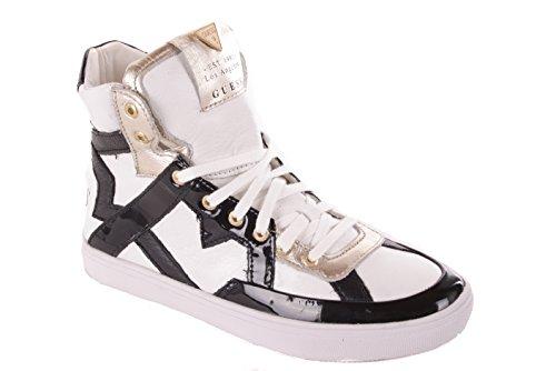 Guess Damen Sneaker Schnürschuhe Plateau (Weiß, Numeric_35)