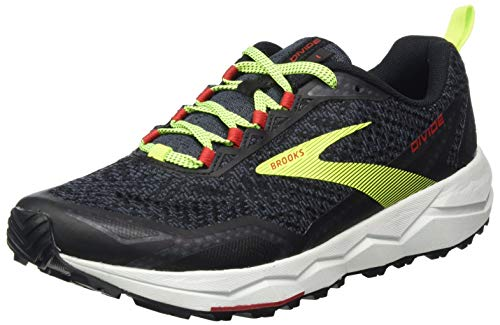 Brooks Herren Divide Laufschuh, Black Ebony Red, 44 EU