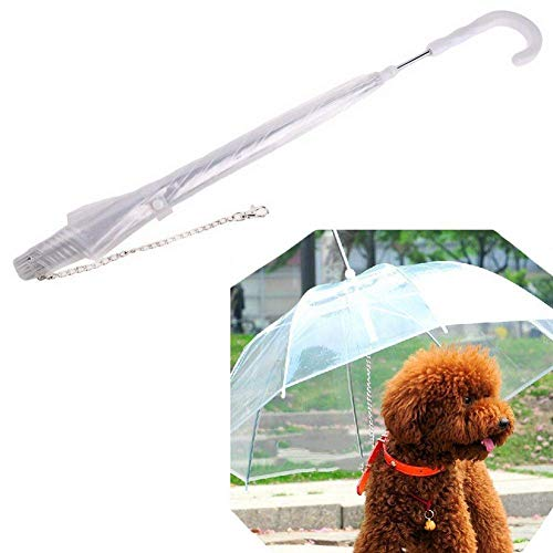 Depory Pet Regenschirm, Regenschirm, Schneeschutz, mit Leinen, Regenschirm für Hunde und Katzen