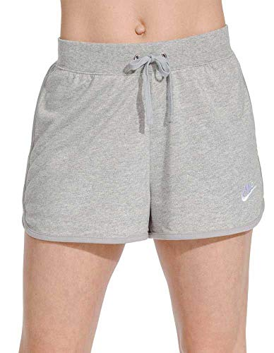 Nike Womens Sportswear Jersey Shorts (Dk Grey Heather, XX-Large)
