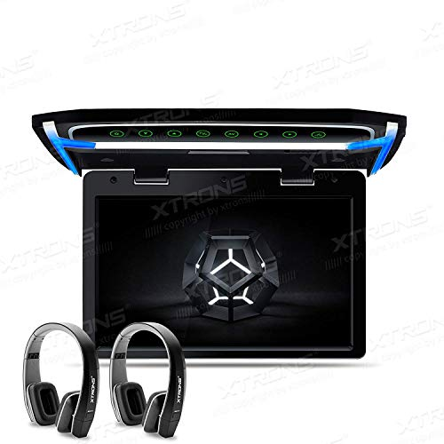 XTRONS® CM101HD+DWH005x2 Écran TFT numérique 1080p pour voiture Montage sur toit avec port HDMI 10,2\