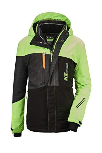 Killtec Jungen Glenshee BYS Ski Jckt A Funktionsjacke Mit Kapuze Und Schneefang, neon-Grün, 140