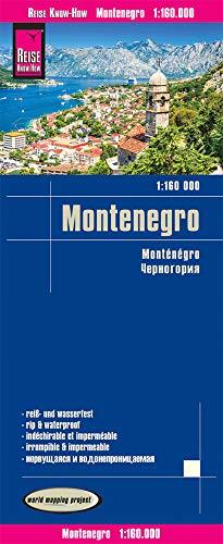 Reise Know-How Landkarte Montenegro (1:160.000): reiß- und wasserfest (world mapping project)