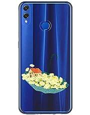 Oihxse Case Transparente Suave TPU Compatible con Huawei P20 Pro Funda [Lindo Caricatura Flor Serie Dibujos] Cristal Protector Carcasa Anti Rasguños Bumper Cover-Paraguas