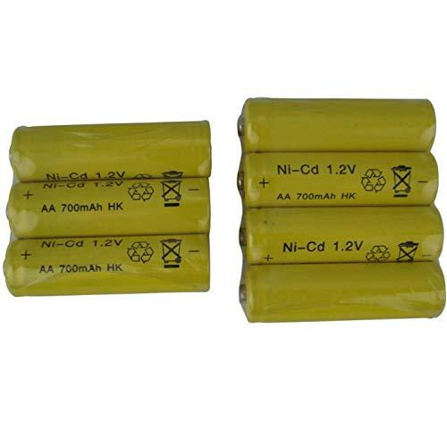 48PCS / Lot AA 1.2V700mAH Juguetes eléctricos de Control Remoto en la batería Recargable de níquel-cadmio Recargable AA AA 1.2V700mAH