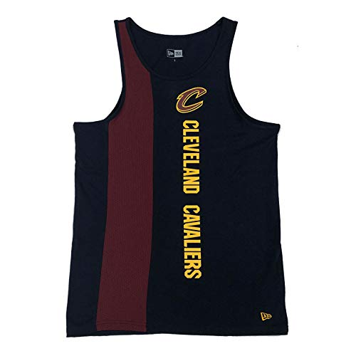 New Era - Canotta NBA Cleveland Cavaliers New Era Wordmark, da uomo, taglia XS, colore: blu navy